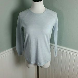 J. Crew Merino Wool Mesh-Sleeve Sweater